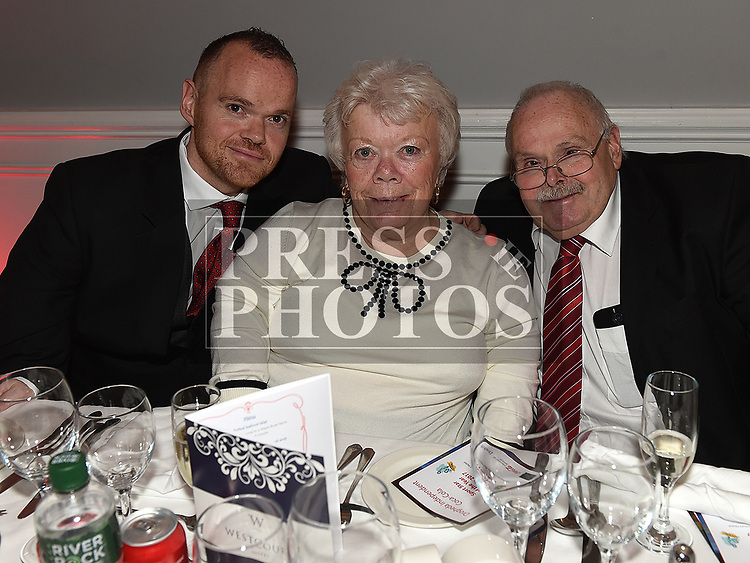 Thomas, Joan and Paddy McCague at the Drogheda Independent Sports Star of the Year Awards in The Westcourt Hotel. Photo:Colin Bell/pressphotos.ie