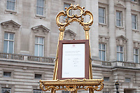 Birth Announcement Easel Buckingham Palace London