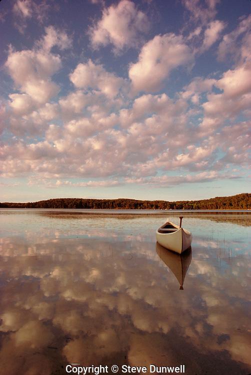 Canoe on Gull Pond, Wellfleet, Cape Cod, MA