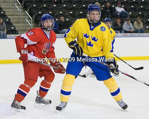 Jakub Jerabek  (Czech Republic - 15), Niclas Edman (Sweden - 5) - Sweden defeated the Czech Republic 4-2 at the Urban Plains Center in Fargo, North Dakota, on Saturday, April 18, 2009, in their final match of the 2009 World Under 18 Championship.