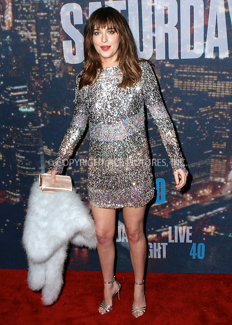 WWW.ACEPIXS.COM<br /> <br /> February 15 2015, New York City<br /> <br /> Dakota Johnson arriving at the SNL 40th Anniversary Special at the Rockefeller Plaza on February 15, 2015 in New York<br /> <br /> By Line: Nancy Rivera/ACE Pictures<br /> <br /> <br /> ACE Pictures, Inc.<br /> tel: 646 769 0430<br /> Email: info@acepixs.com<br /> www.acepixs.com