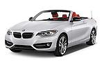 2017 BMW 2-Series 230i 2 Door Convertible Angular Front stock photos of front three quarter view