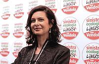 Roma, 11 Gennaio 2013.Residence Ripetta.Nichi Vendola presenta i candidati di SEL e la campagna elettorale.Laura Boldrini