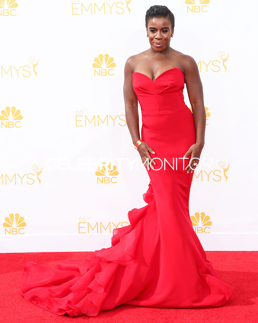 LOS ANGELES, CA, USA - AUGUST 25: Actress Uzo Aduba arrives at the 66th Annual Primetime Emmy Awards held at Nokia Theatre L.A. Live on August 25, 2014 in Los Angeles, California, United States. (Photo by Celebrity Monitor)