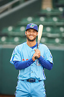 Justin Yurchak (33) of the Ogden Raptors before the game against the Orem Owlz at Lindquist Field on June 20, 2019 in Ogden, Utah. The Owlz defeated the Raptors 11-8. (Stephen Smith/Four Seam Images)