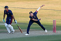 Sam Cook in bowling action for Essex during Essex Eagles vs Premier Leagues XI, Friendly Match Cricket at The Cloudfm County Ground on 2nd July 2018