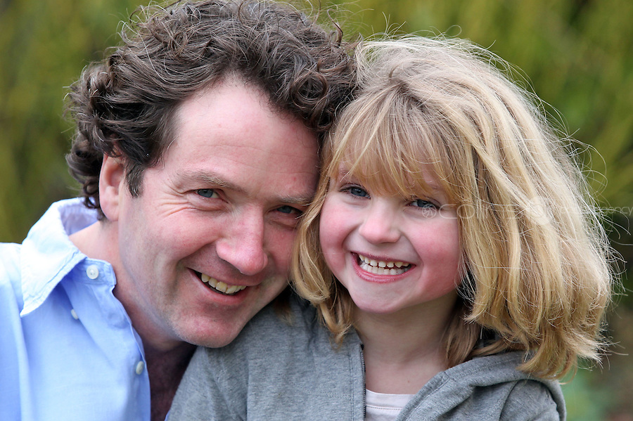 16/02/'11 Celebrity gardener, Diarmuid Gavin pictured at his home in Wicklow, Ireland with his  seven year old daughter, Eppie...Picture Colin Keegan, Collins, Dublin.