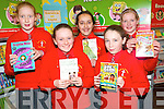 Reading was the theme of the week at the bi-annual book fair at Holy Cross Mercy National School in Killarney last week. .Back L-R Mairead Joy, Amrita Dhami and Fianait O'Donoghue.Front L-R Leighanne Herlihy and Hannah Ring.