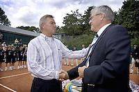 19-8-07, Amsterdam, Tennis, Nationale Tennis Kampioenschappen 2007, Rob Spaan krijgt een Bondsonderscheiding