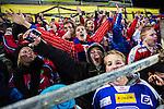 Bolln&auml;s 2013-10-25 Bandy Elitserien Bolln&auml;s GIF - Edsbyns IF :  <br /> Glada Edsbyn supportrar i slutet av matchen<br /> (Foto: Kenta J&ouml;nsson) Nyckelord: supporter fans publik supporters jubel gl&auml;dje lycka glad happy