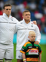 Jack Walker of England looks on prior to the anthems. World Rugby U20 Championship match between England U20 and Scotland U20 on June 11, 2016 at the Manchester City Academy Stadium in Manchester, England. Photo by: Patrick Khachfe / Onside Images