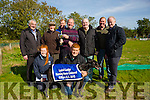 All the Music winner of the Lystoll Lodge Nursing Home Stake at Kilflynn Coursing Club on Monday. Pictured L-r Diane O'Connor, Andrew O'Connor, Back Brian Divley, Donie Walsh presented to Matt O'Connor, Jack O'Rouke John Joe O'Connor, Pat O'Connell, Dj Histon.