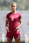 02 October 2011: Virginia Tech's Jazmine Reeves. The Duke University Blue Devils defeated the Virginia Tech Hokies 1-0 at Koskinen Stadium in Durham, North Carolina in an NCAA Division I Women's Soccer game.