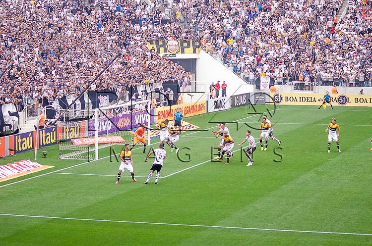 Jogo Corinthians 2 x 1 Criciúma na Arena Corinthians, São Paulo - SP, 06/12/2014.