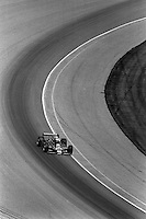 INDIANAPOLIS, IN - MAY 24: Mario Andretti drives Pat Patrick's Wildcat VIII 03/Cosworth through Turn 1 during the Indianapolis 500 USAC/CART Indy Car race at the Indianapolis Motor Speedway in Indianapolis, Indiana, on May 24, 1981.