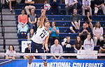 07 MAY: Ben Patch (13) of Brigham Young University serves the ball against Ohio State University during the Division I Men's Volleyball Championship held at Rec Hall on the Penn State University campus in University Park, PA. Ohio State defeated BYU 3-1 for the national title. Ben Solomon/NCAA Photos