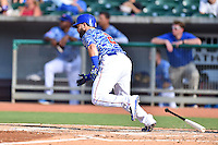 Tennessee Smokies third baseman Tommy La Stella (2) swings at a pitch during a game against the Birmingham Barons on August 2, 2015 in Kodak, Tennessee. The Smokies defeated the Barons 5-2. (Tony Farlow/Four Seam Images)