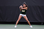 WINSTON-SALEM, NC - MARCH 17: Notre Dame's Rachel Chong. The Wake Forest University Demon Deacons hosted the University of Notre Dame Fighting Irish on March 17, 2017, at Wake Forest Tennis Center in Winston-Salem, NC in a Division I College Women's Tennis match. Notre Dame won the match 4-1.