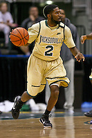 February 08, 2011:   Jacksonville Dolphins guard Russell Powell (2) during Atlantic Sun Conference action between the Jacksonville Dolphins and the North Florida Ospreys at Veterans Memorial Arena in Jacksonville, Florida.  Jacksonville defeated North Florida 71-69.