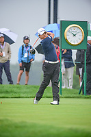 Haru Nomura (JPN) watches her tee shot on 10 during Friday's second round of the 72nd U.S. Women's Open Championship, at Trump National Golf Club, Bedminster, New Jersey. 7/14/2017.<br /> Picture: Golffile | Ken Murray<br /> <br /> <br /> All photo usage must carry mandatory copyright credit (&copy; Golffile | Ken Murray)