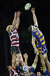 Jamie Chipman and Culum Retallick compete for lineout ball. ITM Cup Round 1 rugby game between Counties Manukau Steelers and Bay of Plenty, played at Bayer Growers Stadium Pukekohe, on Sunday July 17th 2011. Bay of Plenty won 20 - 13 after leading 13 - 10 at half time.