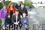 Cllr John Sheehan pictured with Kerri Marsh, Aoife O'Donoghue, Lorraine O'Donoghue, Mark O'Donoghue, Paula Marsh and Florrie O'Mahony, Shinagh, Rathmore, who are campaigning to get the road resurfaced in their area.........................................................