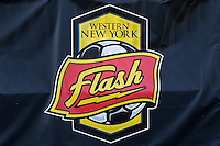Rochester, NY - Friday May 27, 2016: Western New York Flash banner. The Western New York Flash defeated the Boston Breakers 4-0 during a regular season National Women's Soccer League (NWSL) match at Rochester Rhinos Stadium.