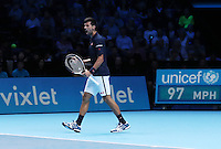 Novak Djokovic  (Serbia)  beats Dominic Thiem (Austria) in 3 sets  played at O2 Arena  London on 13th November 2016
