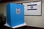 Ballot box at a polling station in Jerusalem, Tuesday, February 10, 2009. The turnout so far for Israel's general elections has been higher than expected, with 41.9% reported to have voted by 16:00..Photo By: Emil Salman / JINI.