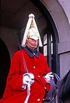 AWFP95 Horse guard soldier Whitehall London England