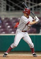 SANTA CLARA, CA - April 19, 2011: Danny Diekroeger of Stanford baseball bats during Stanford's game against Santa Clara at Stephen Schott Stadium. Stanford won 10-3.