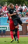 20.07.2019, Heinz Detmar Stadion, Lohne, Interwetten Cup 1. FC Köln vs SV Werder Bremen<br /> <br /> im Bild / picture shows <br /> <br /> Ludwig Augustinsson (Werder Bremen #05)<br /> <br /> Anthony Modeste (Koeln #27) treffen zusammen <br /> Verletzung / verletzt / Schmerzen<br /> Foto © nordphoto / Kokenge