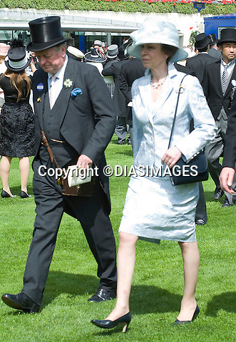 "PRINCESS ANNE WITH ANDREW PARKER-BOWLES, ROYAL ASCOT.attends the opening day of Royal Ascot, the premier race event of the calendar, Ascot_14/11/2011.Mandatory Credit Photo: ©DIAS-DIASIMAGES..**ALL FEES PAYABLE TO: ""NEWSPIX INTERNATIONAL""**..IMMEDIATE CONFIRMATION OF USAGE REQUIRED:.DiasImages, 31a Chinnery Hill, Bishop's Stortford, ENGLAND CM23 3PS.Tel:+441279 324672  ; Fax: +441279656877.Mobile:  07775681153.e-mail: info@newspixinternational.co.uk"