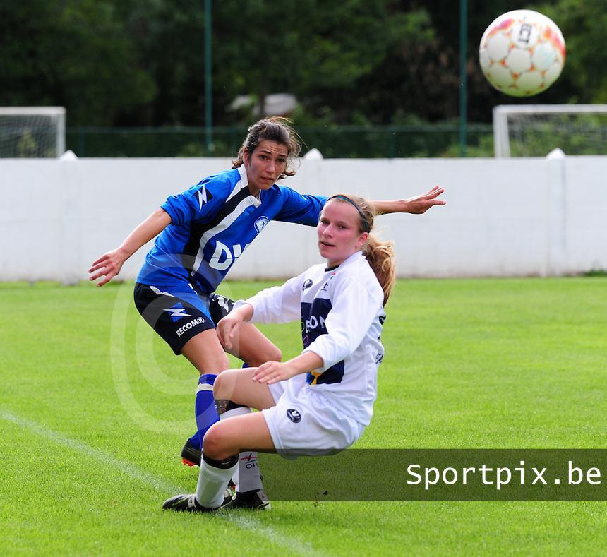 OHL Oud Heverlee Leuven - Evas Tienen : Jill Stevens en Karlijn Lycke
