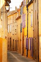 Gruissan village. La Clape. Languedoc. Village street. France. Europe.