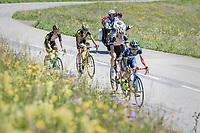 Guillaume Martin (FRA/Wanty-Groupe Gobert) up the Col de Saisies (Cat1/1663m)<br /> <br /> 69th Crit&eacute;rium du Dauphin&eacute; 2017<br /> Stage 8: Albertville &gt; Plateau de Solaison (115km)