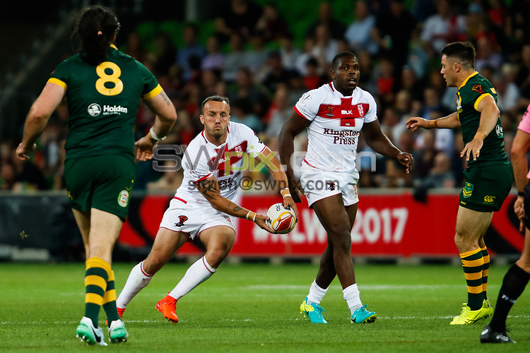 MANADTORY CREDIT Brendon Ratnayake/SWpix.com/Photosport.nz - 27/10/2017 - Rugby League World Cup - Australia vs England - AAMI Park, Melbourne, Australia - England's Josh Hodgson in action.