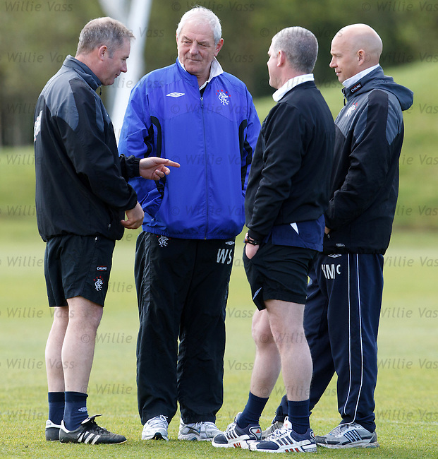 Walter Smith with Ally McCoist, Kenny McDowall and Ian Durrant