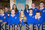 5th class students at CBS Primary School enjoying the last opportunity to view the 'Spymaster' exhibition at Kerry County Museum. .Back L-R Ian Moynihan, Sabina Krokova, Adriana Godlova, Cilian O'Riordan and  Morgan Moriarty. .Front L-R Tom Healy, Eve Roche, Holly Tuohy,  Kevin Kedzierski and Aaron Pittman. .