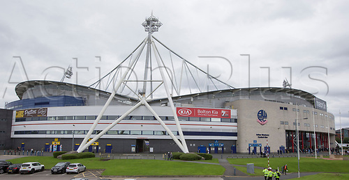 August 6th 2017, Macron Stadium, Bolton, England; Sky Bet Championship; Bolton Wanderers versus Leeds United;  Exterior view of the Macron stadium