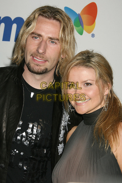 CHAD KROEGER (of Nickelback) & WIFE.2008 Clive Davis Pre-Grammy Awards Party held at the Beverly Hilton Hotel, Beverly Hills, California, USA..February 9th, 2008.headshot portrait goatee facial hair .CAP/ADM/RE.©Russ Elliot/AdMedia/Capital Pictures.