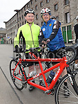 Daragh O'HEiligh and Anthony Kelly who took part in the Ras Cabhru cycle on their tandem in aid of Drogheda Homeless Aid. Photo:Colin Bell/pressphotos.ie