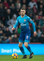 Aaron Ramsey of Arsenal during the Premier League match between Bournemouth and Arsenal at the Goldsands Stadium, Bournemouth, England on 14 January 2018. Photo by Andy Rowland.