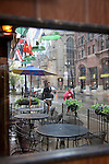 A rainy cafe in Chicago, IL