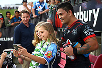 Issac Luke. Vodafone Warriors v Gold Coast Titans, NRL Rugby League round 2, Mt Smart Stadium, Auckland. 17 March 2018. Copyright Image: Renee McKay / www.photosport.nz