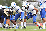 Palos Verdes, CA 09/16/11 - David Paniagua (Culver City #68) in action during the Culver City-Peninsula varsity football game.