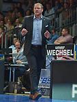 11.04.2018, Arena am Ischeland, Hagen, GER, 2. BBL PRO A, Play-Offs, Phoenix Hagen vs Rasta Vechta, im Bild<br /> <br /> Trainer / Head Coach Douglas Spradley (Vechta)<br /> <br /> <br /> Foto &copy; nordphoto / Treese