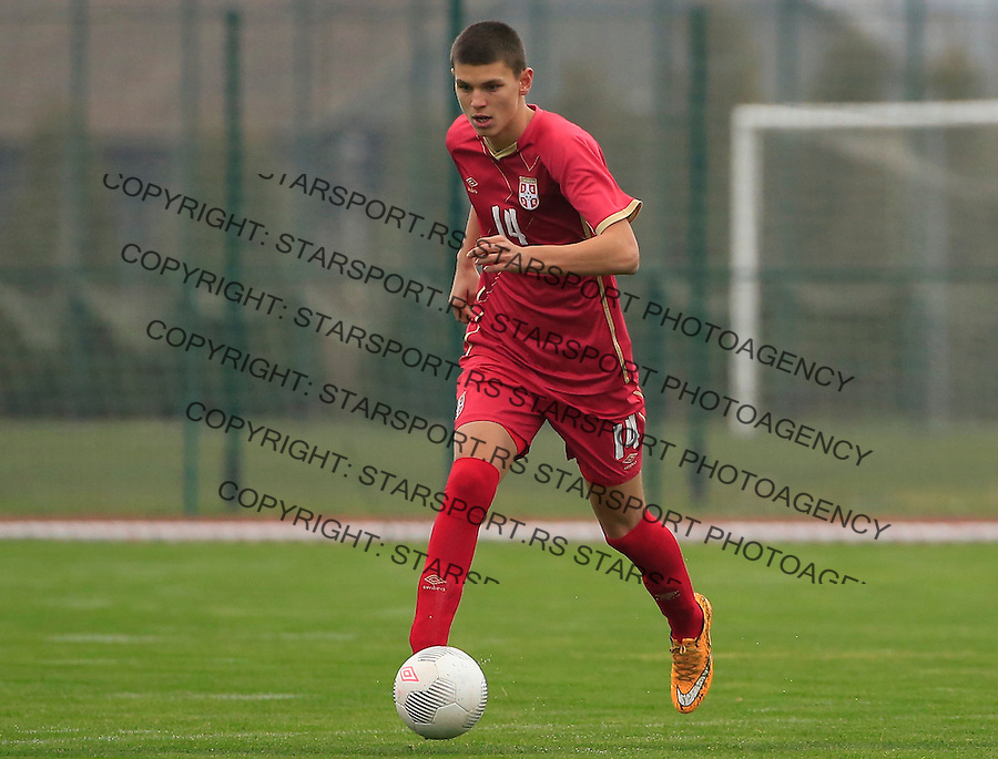Fudbal soccer friendly match<br /> Srbija U17 v Madjarska U17<br /> Ranko Veselinovic<br /> Stara Pazova, 08.12.2015.<br /> foto: Srdjan Stevanovic/Starsportphoto &copy;