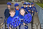 BE SAFE: Pupils at CBS Primary School in Tralee taking part in the Safer Cycling Initiative at the school on Wednesday, front l-r: John Carroll, Danny Coffey. Back l-r: Darcy Pototzki, Paul Lynch, Darrell O'Mahony, John Hynes, Darragh McMahon.