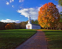USA, Massachusetts, Martha-Mary Chapel located in Sudbury